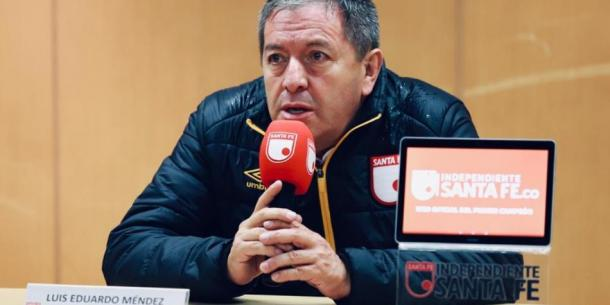 Eduardo Méndez, Presidente de Santa Fe. Imagen: Independiente Santa Fe.