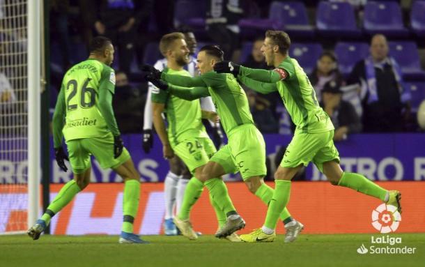 Mesa celebra su gol | LaLiga
