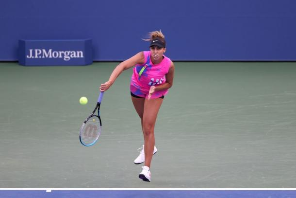 Keys produced six aces and 23 winners in what was a stunning display of serve against Bolsova. Photo: Al Bello