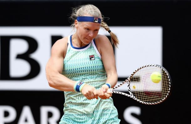 Bertens, who thrives on the dirt, will be playing her first event since the tour resumption August. Photo: NurPhoto
