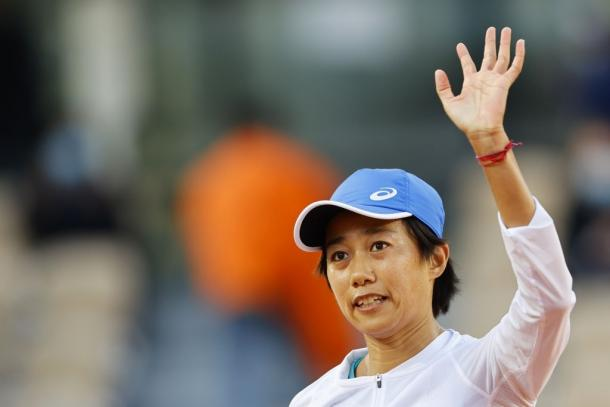 Zhang is now two wins away from a third Grand Slam quarterfinal, her first on clay. Photo: Thomas Samson.