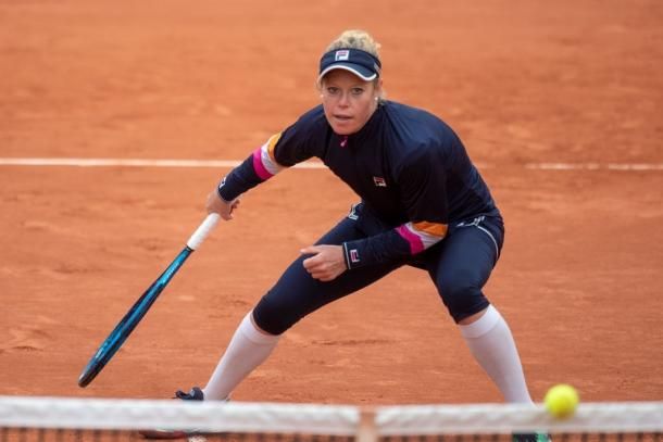 Siegemund finished the match with cleaner serve statistics than her opponent. Photo: Tim Clayton