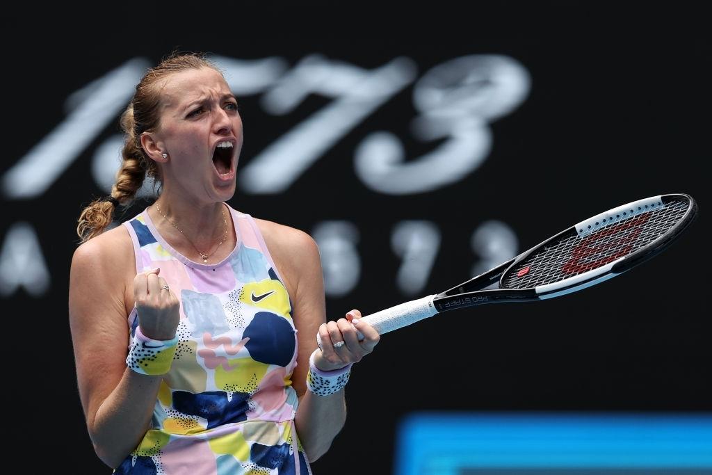 Kvitova kicked her 2020 Grand Slam renaissance with a quarterfinal run at the Australian Open, her fourth in Melbourne. Photo: Clive Brunskill