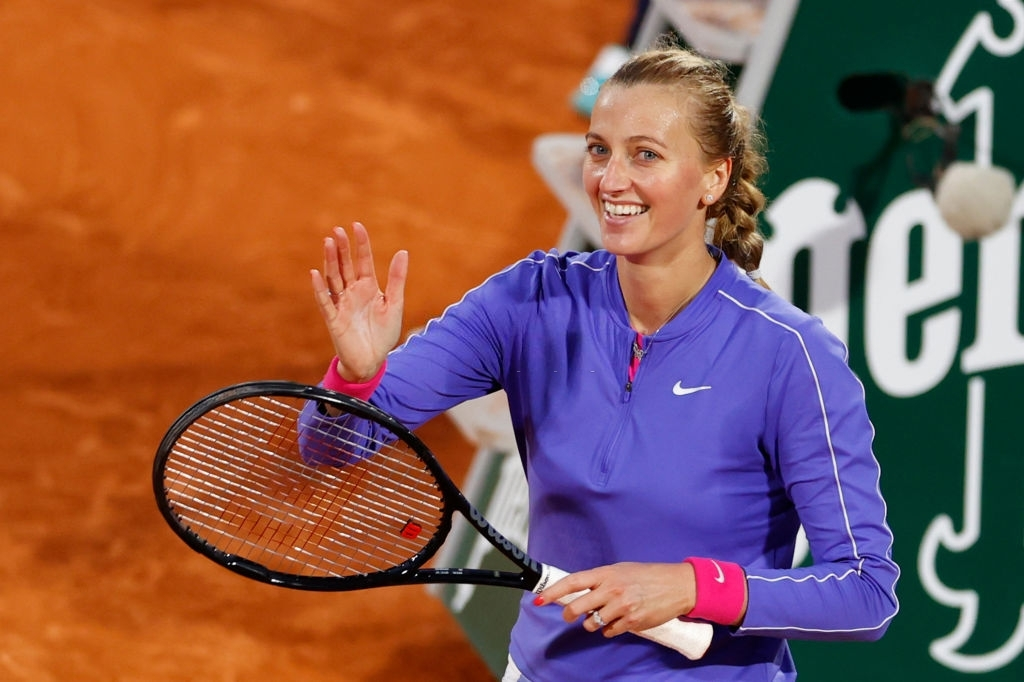 Kvitova returned to her first French Open semifinal in eight years, tying her best result here which she first recorded in 2012. Photo: Thomas Samson