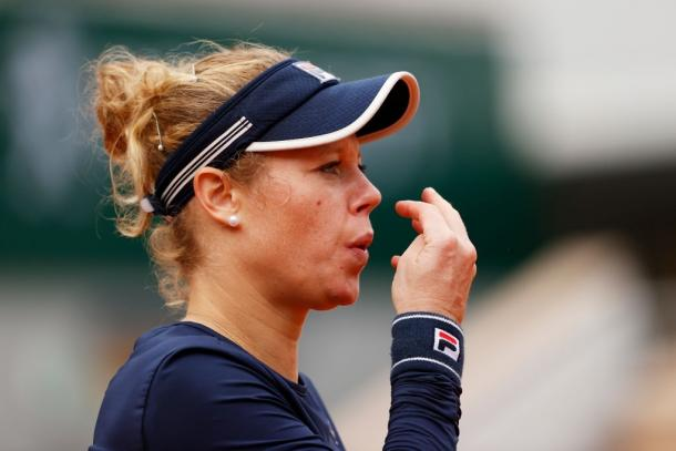 Siegemund could not do much to hurt her opponent's game in the opening set. Photo: Clive Brunskill
