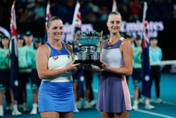 Babos/Mladenovic will be looking to add another Grand Slam doubles crown in 2020 to their Australian Open win earlier this year, and to their current total of three. Photo: Fred Lee