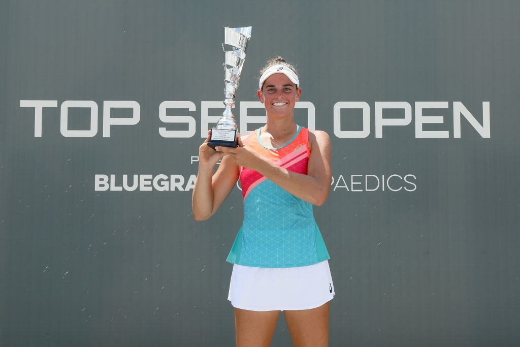 Brady sealed her maiden WTA title by winning the inaugural Top Seed Open on home soil in Lexington. Photo: