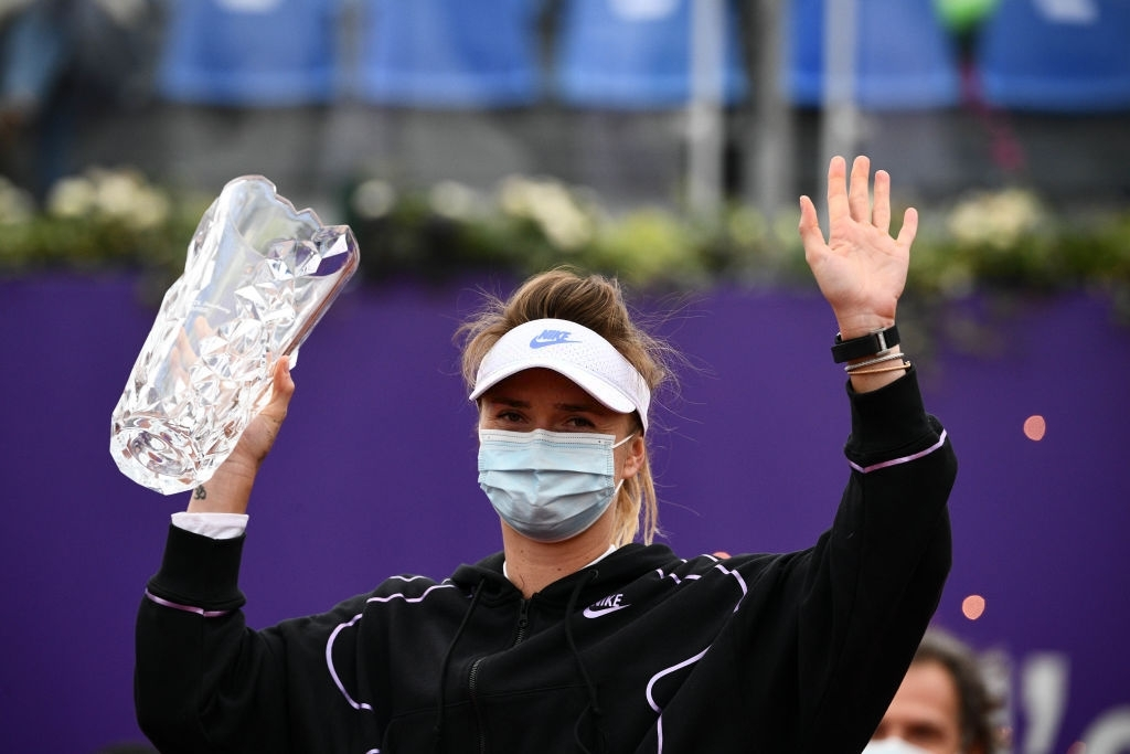 Svitolina captured her second crown of the year in Strasbourg. Photo: