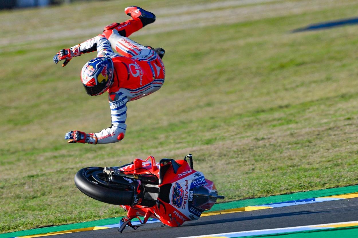 El Gran Premio SHARK Helmets de Francia fue el más accidentado este año. Imagen: MotoGP