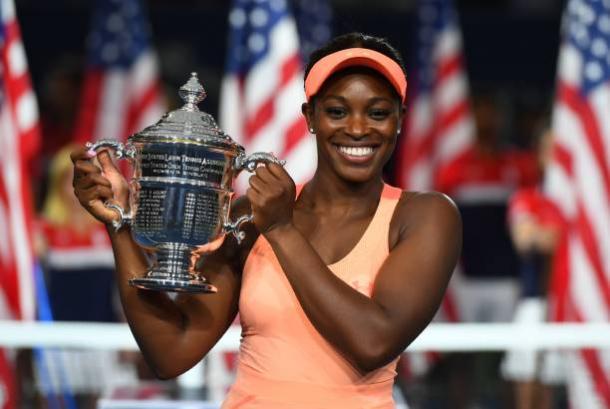 Stephens, 2017 US Open women's singles winner. Photo: Timothy A. Clary