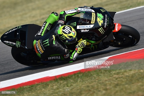 Pol Espargaro the fastest during San Marino FP3 on his Monster Tech 3 Yamaha - Getty Images