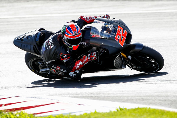 Sam Lowes had his second experience with his future ride on his Aprilia RS-GP at the Red Bull Ring during a private test for the manufacturer - www.gresiniracing.com