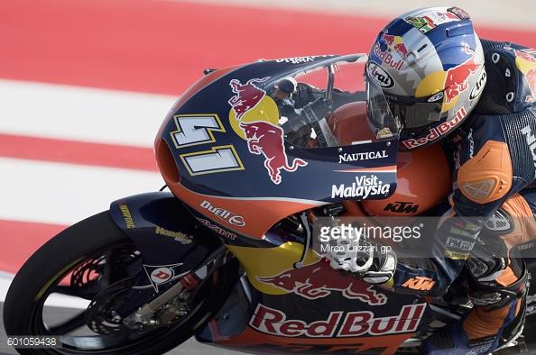 Brad Binder leading the Moto3 championship -  Getty Images