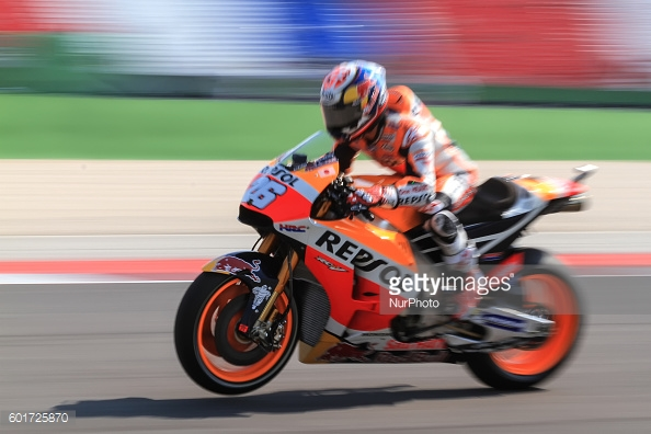 Pedrosa back on the pace after his crash earlier on in FP3 - Getty Images