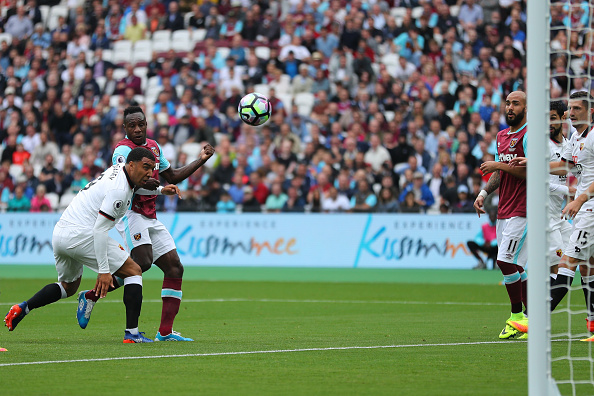 Above: Michail Antonio striking home in West Ham's 4-2 defeat to Watford | Photo: Getty Images