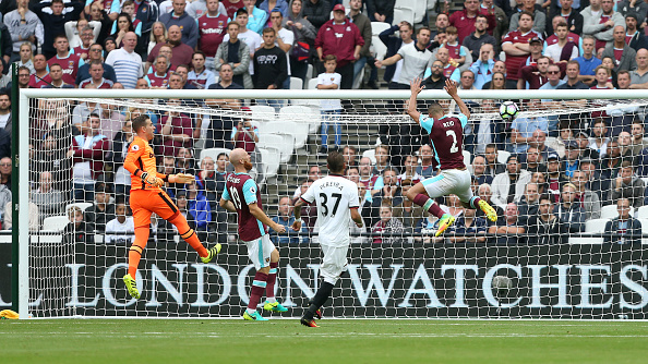 Above: Troy Deeney's effort hitting the back of the net in West Ham's 4-2 defeat to Watford |Photo: Getty Images