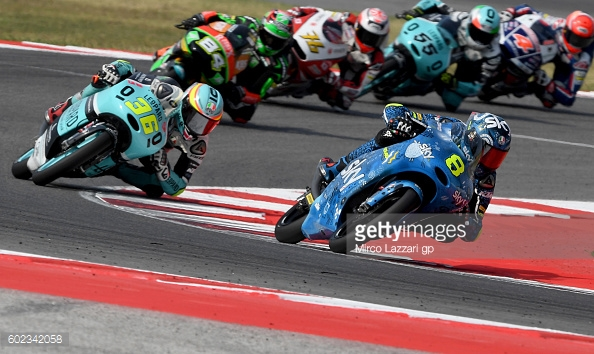 Mir stalking Bulega at his home GP in San Marino (Sky Racing Team VR46 sporting new colours) - Getty Images