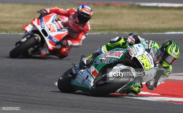 Crutchlow ahead of wildcard Michele Pirro who did not finish the race - Getty Images