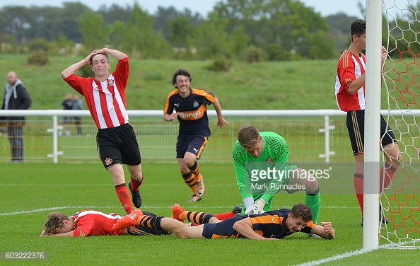 Above: Sunderland under-18's conceding against Newcastle United | Photo: Getty Images