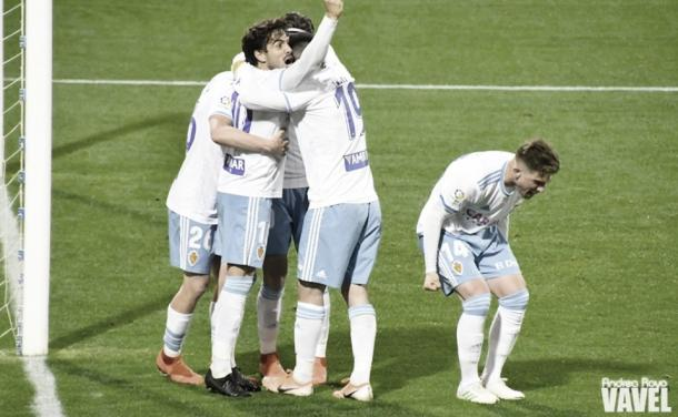 Celebración del Real Zaragoza | Foto: Andrea Royo, VAVEL