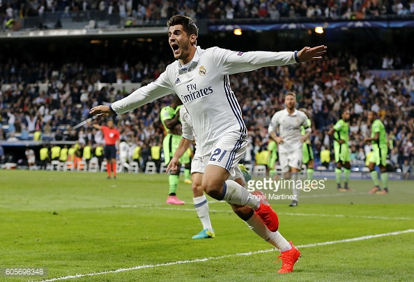 Alvaro Morata netted a late winner for Madrid against Sporting Lisbon. (picture: Getty Images / Angel Martinez)