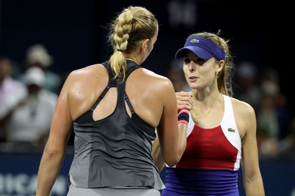 Kvitova and Cornet were contesting their third clash overall, first since the 2017 US Open, with all three clashes having occured on American hard courts. Photo: Abbie Parr