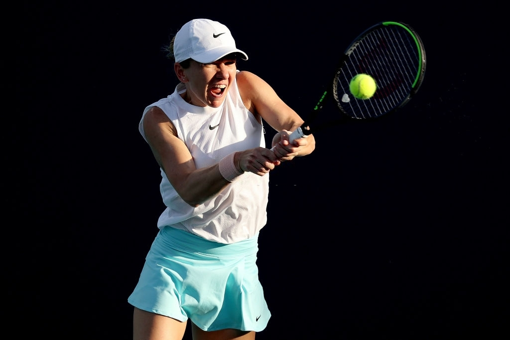 Halep had a slow start but gathered enough pace in the end to send Caroline Garcia packing. Photo: