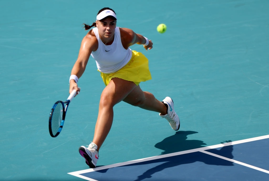 Konjuh recorded back-to-back victories over opposition ranked in the top 20 to move into the fourth round of Miami. Photo: