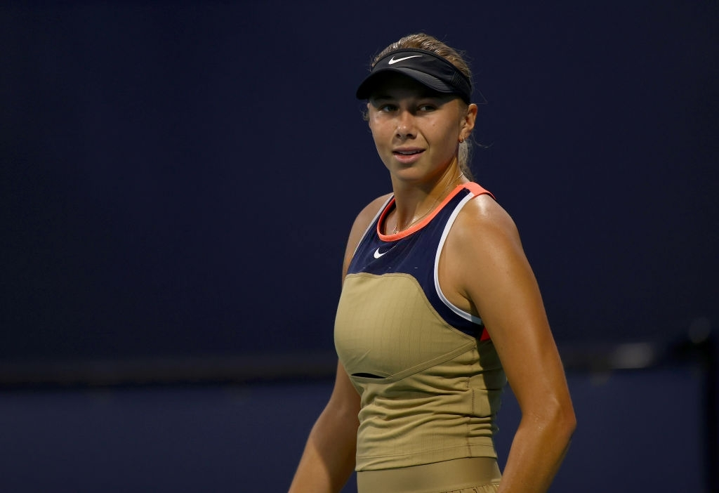 After losing the first set in a tiebreak, Anisimova responded by snatching the second set from her opponent, also with a tiebreak. Photo: Mark Brown