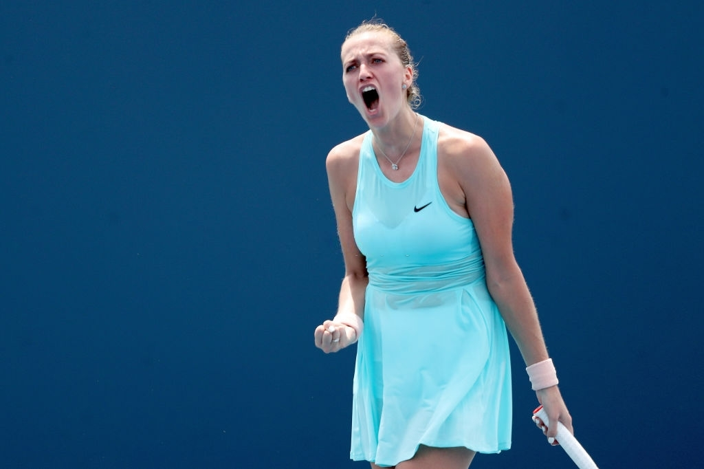 Kvitova, having started the match strong, soon became physically troubled by the Miami heat but was determined to keep the match competitive until the end. Photo: Mark Brown