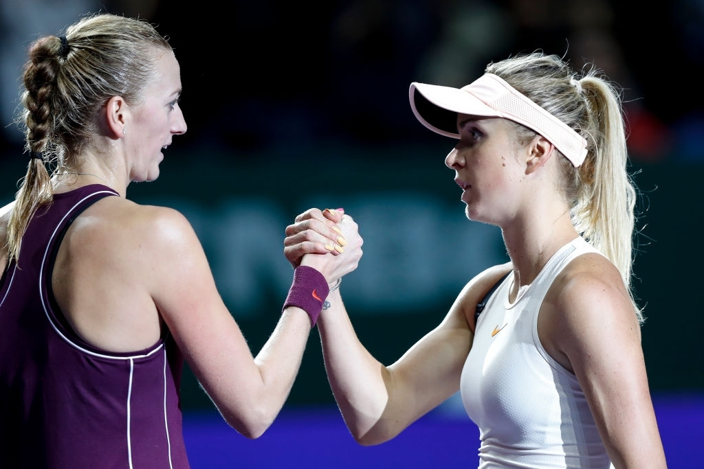 Kvitova and Svitolina most recent clash came at the WTA Finals in 2018 which the latter won in straight sets. Photo: Fred Lee