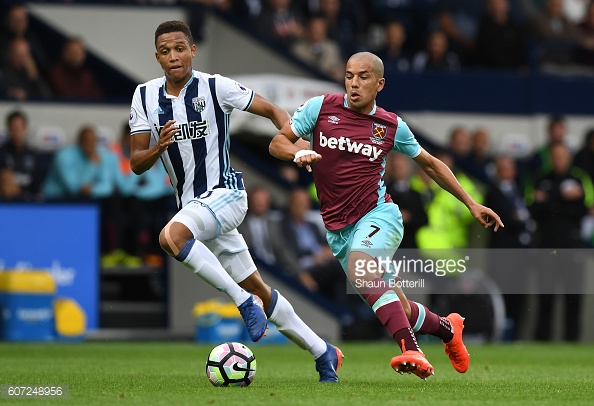 Above: Sofiane Feghouli in action during West Ham's 4-2 defeat to West Brom | Photo: Getty Images