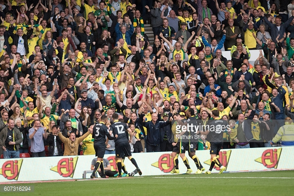Norwich won 2-1 at The City Ground in the last meeting between the sides. (picture: Getty Images / Nathan Stirk)