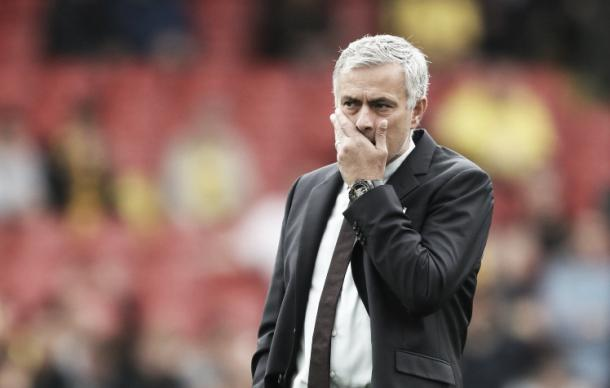 Jose Mourinho will be seriously considering his current methods after losing three consecutive matches for the first time since 2002. (Image via: Metro)