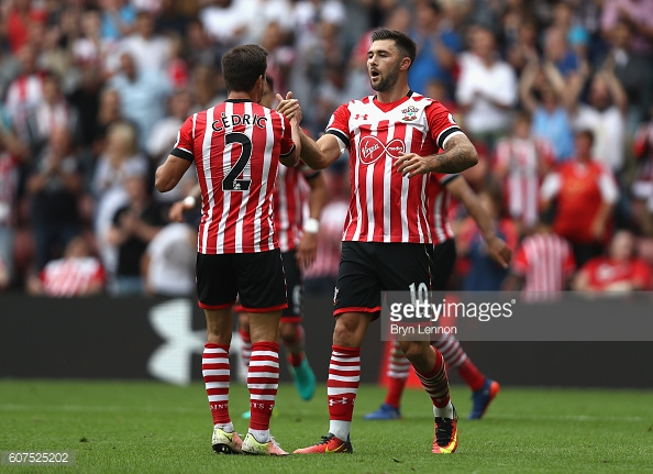 Charlie Austin has been Southampton's saviour in the past week. Photo: Getty