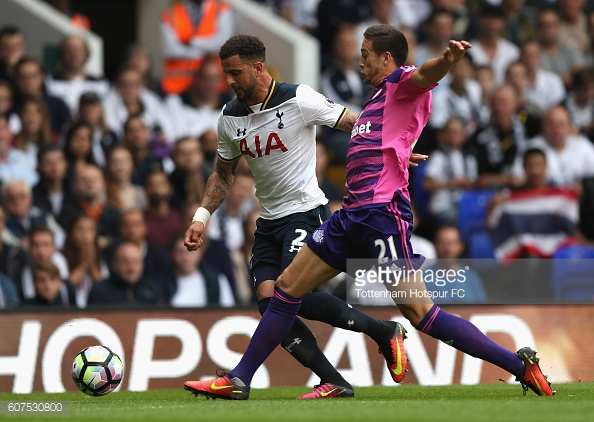 Walker in action for Spurs against Sunderland last weekend | Photo: Tottenham Hotspur / Getty Images