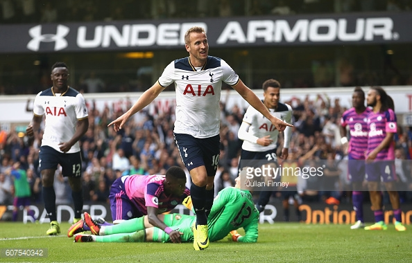 Kane celebrates scoring the winner for Spurs' | Photo: