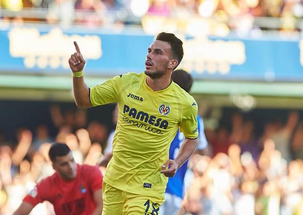 L'esultanza di Sansone dopo la doppietta alla Real Sociedad (Fonte foto: Sportnews)