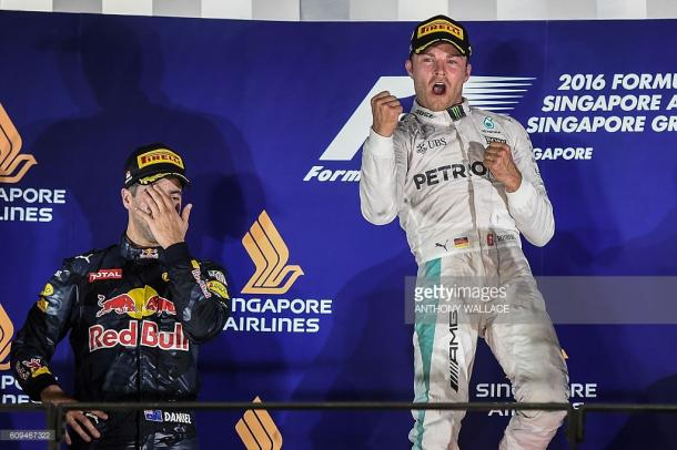 Ricciardo came so close in Singapore...   Photo: Getty Images/Anthony Wallace
