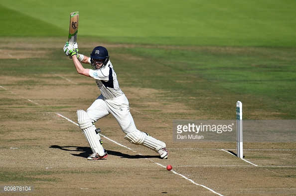 Gubbins in action during his innings of 93 for the hosts | Photo: Dan Mullan / Getty Images