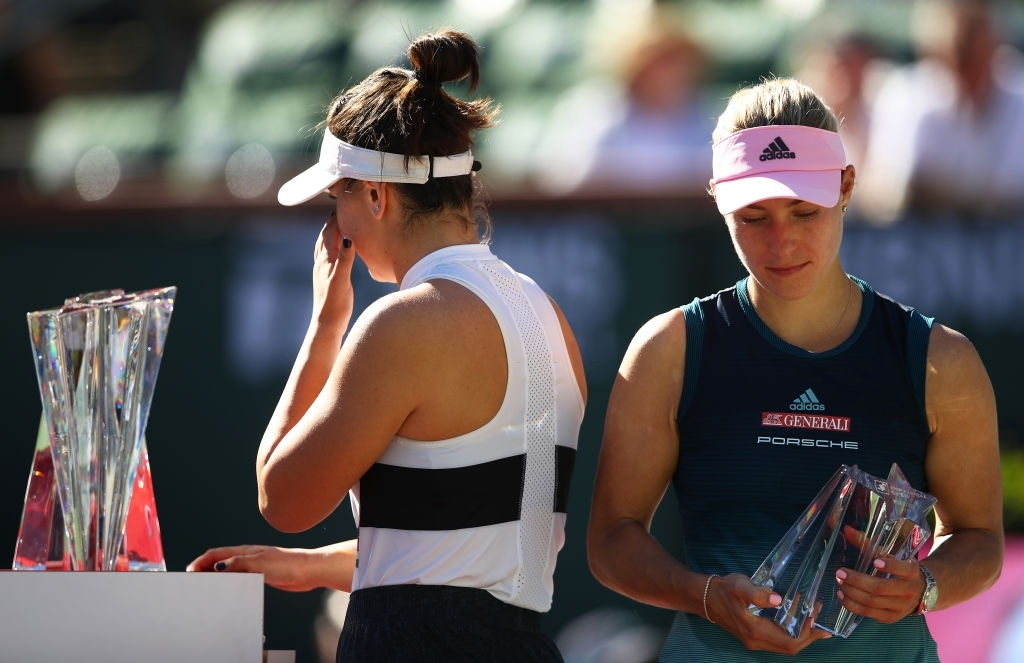 Kerber finished runner-up to surprise finalist Bianca Andreescu in Indian Wells 2019, in what was Kerber's first Premier Mandatory final. Photo: