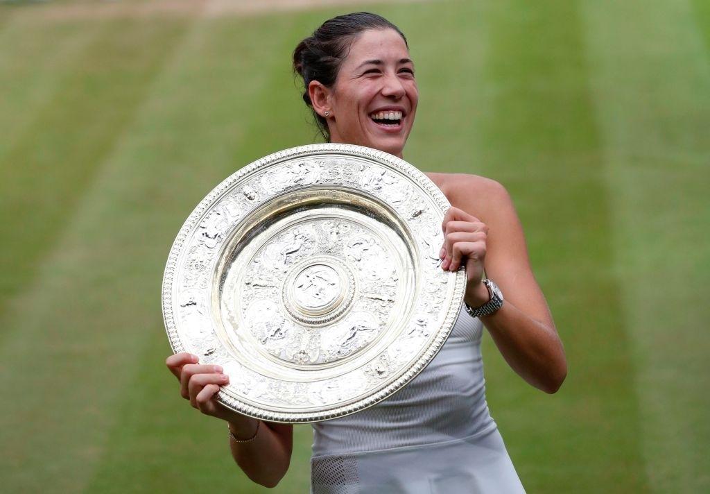 2017 Wimbledon ladies' singles champion Muguruza. Photo: AFP