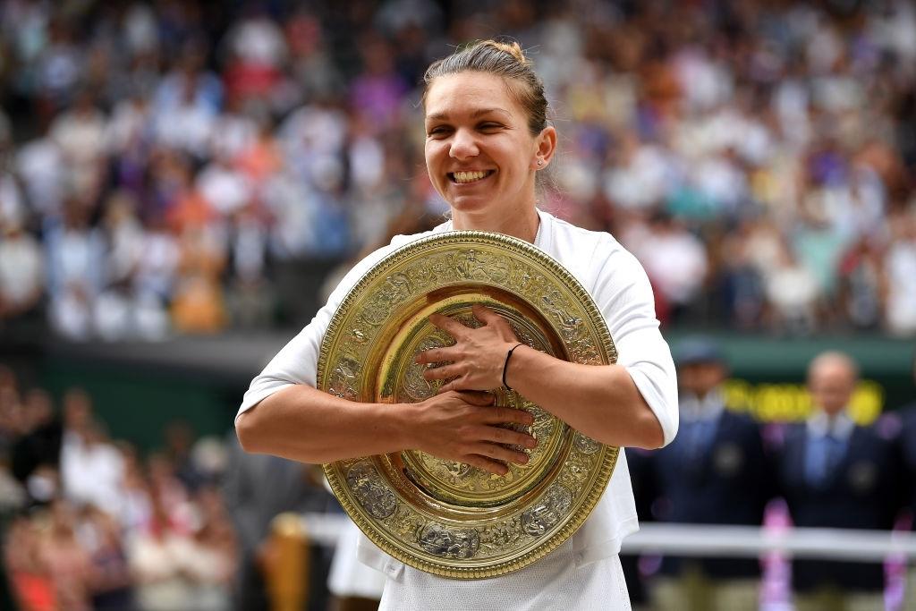 2019 Wimbledon ladies' singles champion Halep. Photo: Shaun Botterill