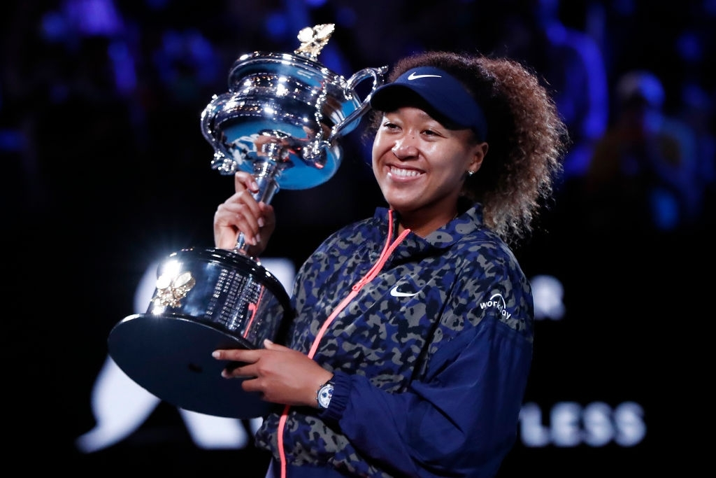 Osaka reeled off a Grand Slam title victory for the fourth year in a row, at the Australian Open, her second title here too. Photo: