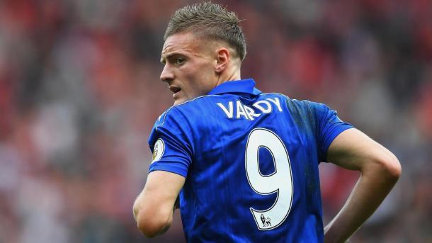 Vardy podría alcanzar los 50 goles con los Foxes en Premier | Foto: Premier League.