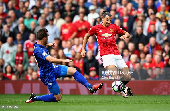 Zlatan was a constant menace to Liverpool's defence today.  Photo: Getty   Clive Brunskill)