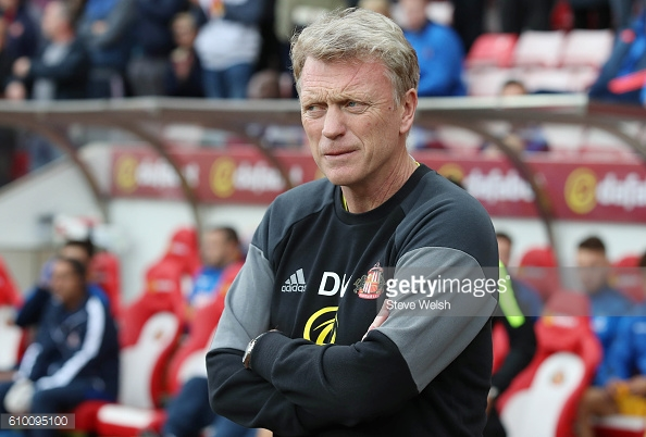 Above: David Moyes on the touchline during Sunderland's 3-2 defeat to Crystal Palace | Photo: Getty Images