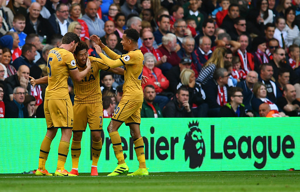 Heung Min Son & Co celebrate yet another goal (Photo: Getty Images)