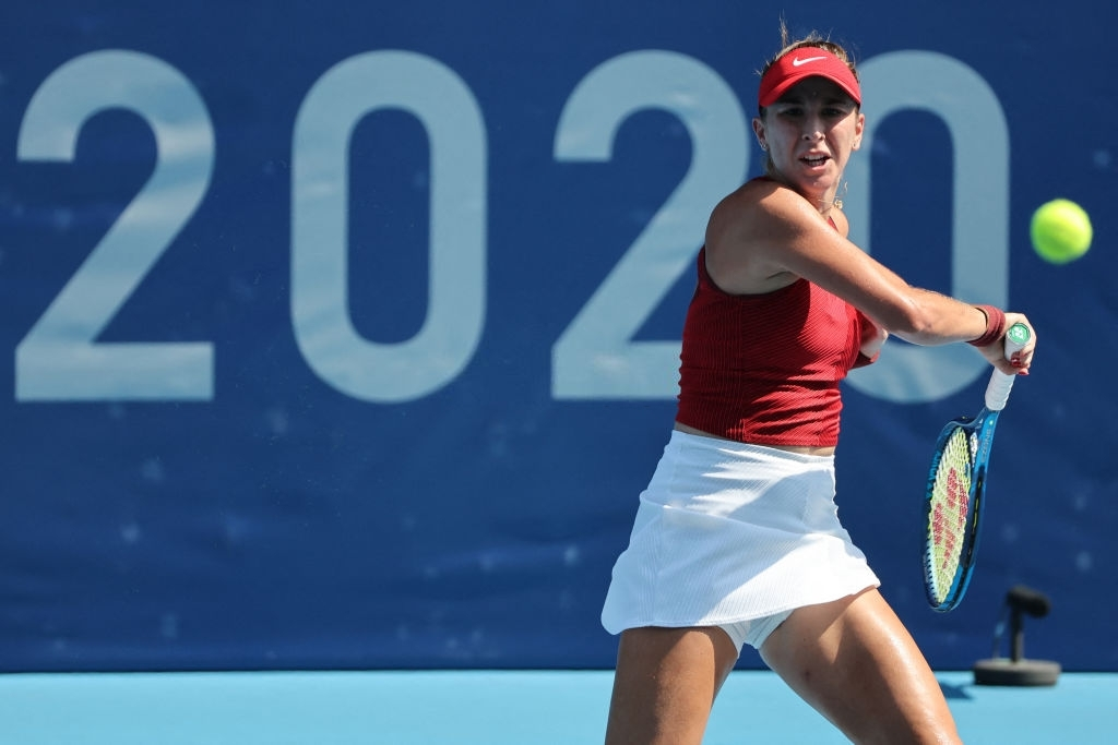 Bencic sailed through the opening set by scoring a bagel. Photo: Giuseppe Cacace