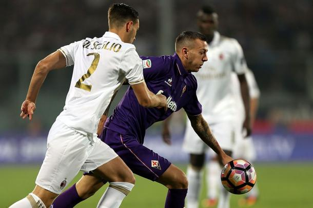 El Milán no pudo sacar tres puntos de su visita a Florencia (Foto: Rossoneri Blog)